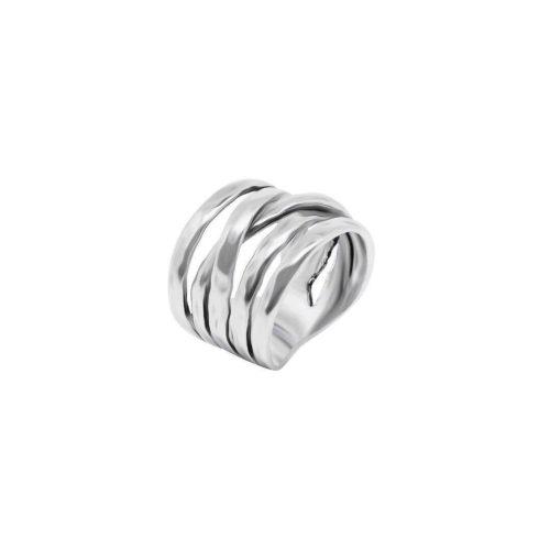 טבעת רחבה מיני ספירלה מכסף אמיתי 925