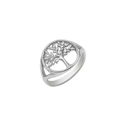 טבעת רחבה עץ החיים מכסף אמיתי 925